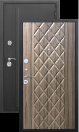 Троя 10 см Муар/Палисандр металлическая входная дверь