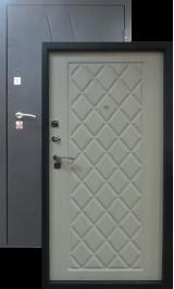 ВОДОЛЕЙ дуб беленый металлическая входная дверь