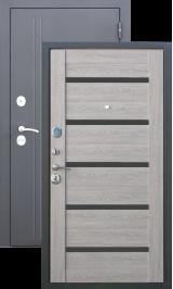 Троя 10 см Серебро / Дымчатый дуб металлическая входная дверь