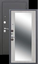 Троя MAXI 10 см Черный шелк/Дуб сонома с зеркалом металлическая входная дверь