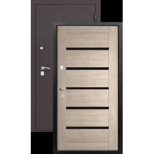 ТРОЯ (Царга) Лиственница мокко металлическая входная дверь