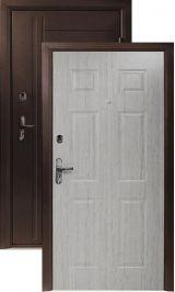 ДорЭко 3 антик медь беленый дуб металлическая входная дверь