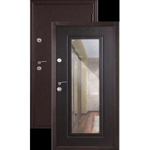 Эллегия с ЗЕРКАЛОМ венге металлическая входная дверь