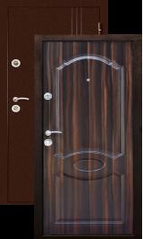 Экстра темный орех металлическая входная дверь