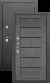 Изотерма антик серебро/бетон с терморазрывом входная дверь