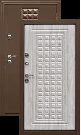 Контур беленый дуб металлическая входная дверь 860 пр (Витрина)
