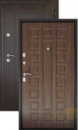 Квадро антик медь/венге входная дверь