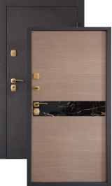 Алегро светлая металлическая входная дверь