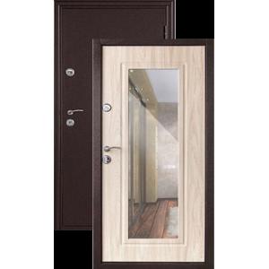 Эллегия с ЗЕРКАЛОМ беленый дуб металлическая входная дверь
