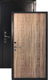 Оптима мореный дуб металлическая входная дверь