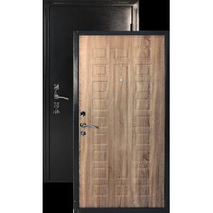 Оптима мореный дуб металлическая входная дверь 860 пр витрина