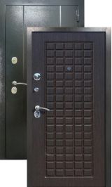 Эталон 20 Антик серебро/венге металлическая входная дверь