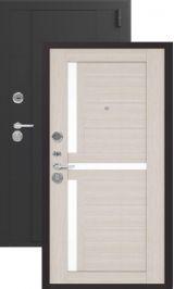 Эталон x16 Черный шелк/лиственница светлая металлическая входная дверь