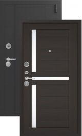 Эталон x16 Черный шелк/венге металлическая входная дверь