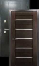 Эталон 27 Царга x7 Антик серебро/венге металлическая входная дверь