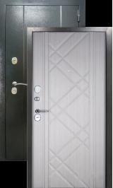 Эталон 30 Антик серебро/седой дуб металлическая входная дверь