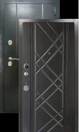 Эталон 30 Антик серебро/венге металлическая входная дверь