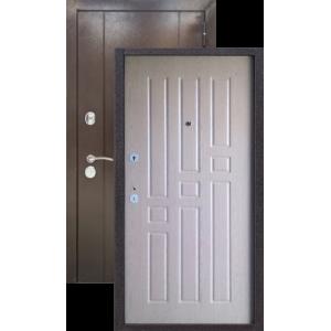Эталон 10 Антик медь/седой дуб металлическая входная дверь