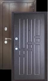 Эталон 10 Антик медь/венге металлическая входная дверь