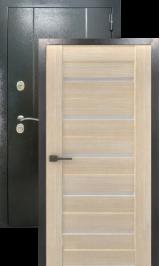 Эталон 27 Царга x7 Антик серебро/седой дуб металлическая входная дверь