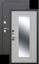Царское зеркало Муар/Белый ясень металлическая входная дверь