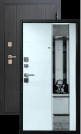 Эльбрус Черный графит/Беленый с молдингом дуб металлическая входная дверь