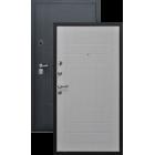 Эверест Черный графит/Беленый дуб металлическая входная дверь