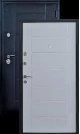 Квадро 2 Черный шелк/Лиственница металлическая входная дверь