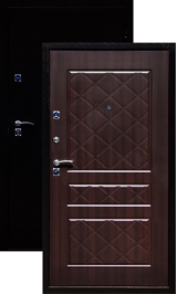 ГЕРМЕС стандарт антик медь/венге металлическая входная дверь