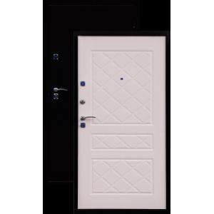 ГЕРМЕС стандарт антик медь/беленый дубметаллическая входная дверь