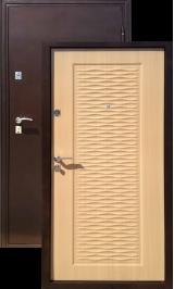 ГЕРМЕС Волна мореный дуб металлическая входная дверь
