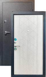 Хит 11 черный муар беленый дуб металлическая входная дверь