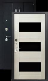 Хит-16 черный сатин лиственница беленая металлическая входная дверь