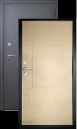 Хит-2 черный шелк-дуб беленый металлическая входная дверь