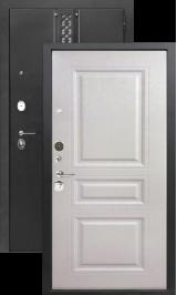 Хит 17 Черный шёлк/белое дерево металлическая входная дверь