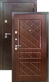 Крепость-1 антик медь венге металлическая входная дверь