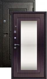 Крепость-F5 черный шелк венге зеркало металлическая входная дверь
