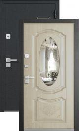 Latte черный шелк дуб светлый матовый с зеркалом металлическая входная дверь