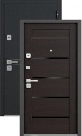 Vegas черный шелк ларче темный стекло черное металлическая входная дверь