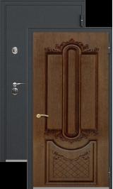 Легион 1 черный шелк/александрия металлическая входная дверь