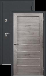 Легион 1 черный шелк/серый кедр металлическая входная дверь