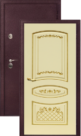 Легион 2 шелк бордо/алина металлическая входная дверь