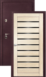 Легион 2 шелк бордо/орех капучино металлическая входная дверь