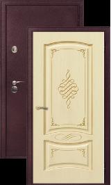 Легион 2 шелк бордо/рим металлическая входная дверь