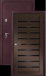 Легион 2 шелк бордо/венге металлическая входная дверь