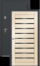 Легион 1 черный шелк/орех капучино металлическая входная дверь