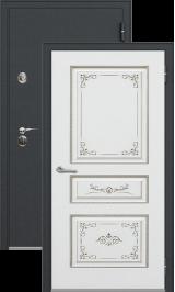 Легион 1 черный шелк/вена металлическая входная дверь