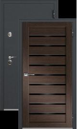 Легион 1 черный шелк/венге металлическая входная дверь