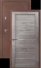 Легион 3 антик медь/серый кедр металлическая входная дверь