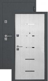 SalvaDoor 1 серый муар лиственница белая металлическая входная дверь